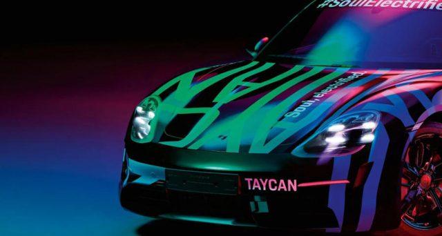 La berlina elettrica di Porsche protagonista di nuove immagini teaser in vista del suo debutto che avverrà al Salone dell'auto di Francoforte