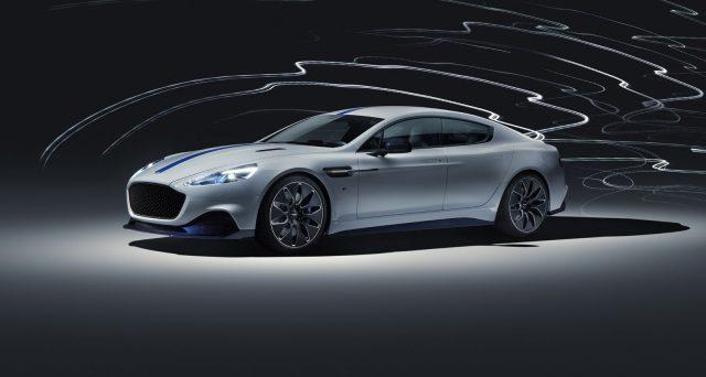 Aston Martin ha presentato al Salone dell'auto di Shnaghai la sua prima auto completamente elettrica