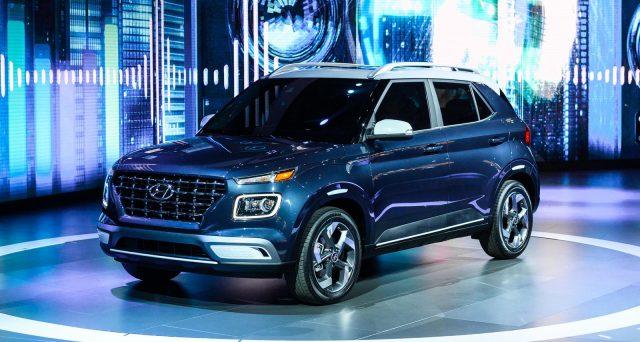 La casa automobilistica coreana ha svelato la nuova Hyundai Venue durante l'apertura del New York International Auto Show 2019