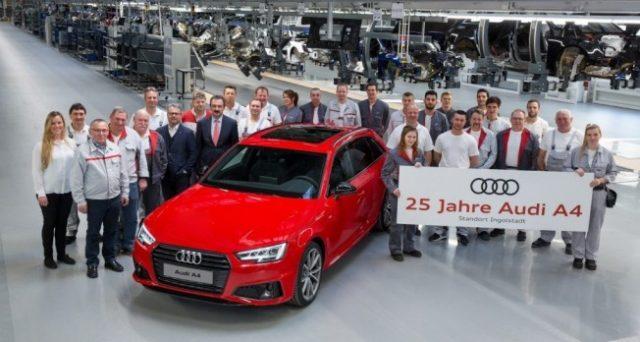 Audi A4 festeggia il traguardo dei 25 anni di carriera, la berlina sino ad ora è stata venduta in 7,5 milioni di unità