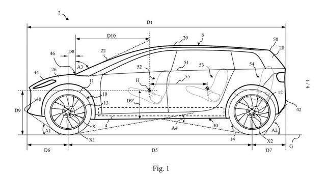 Da alcuni brevetti emergono nuovi dettagli stilistici di come sarà la futura auto elettrica della società inglese