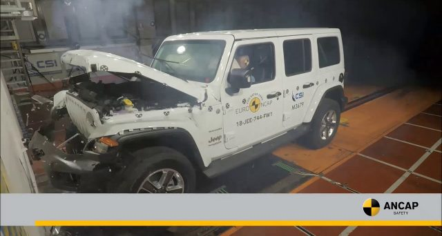Jeep Wrangler: La nuova generazione dell'iconico modello ha ricevuto una sola stella dall'ANCAP a causa dei pessimi risultati nei crash test
