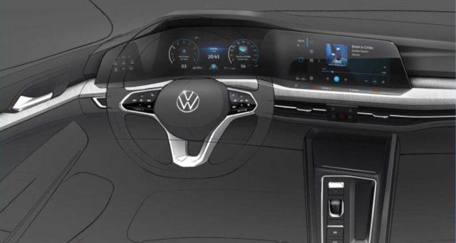 Nuova Volkswagen Golf: Mostrato per la prima volta l'abitacolo dell'ottava generazione che sarà svelata in ottobre in Germania