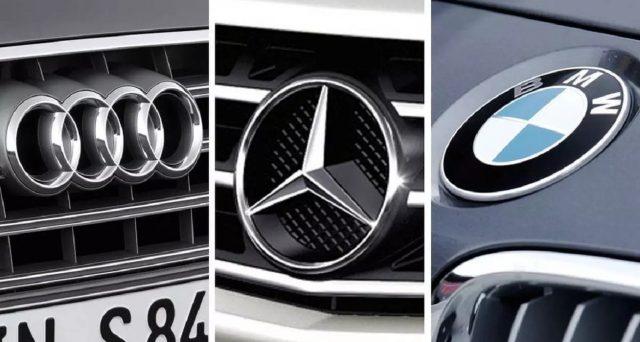 Audi, Mercedes e Bmw