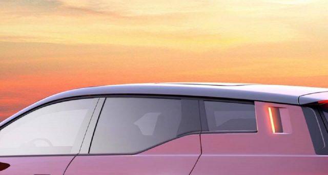Fisker mostra un altro teaser del suo futuro suv elettrico che mostra la zona laterale posteriore del veicolo