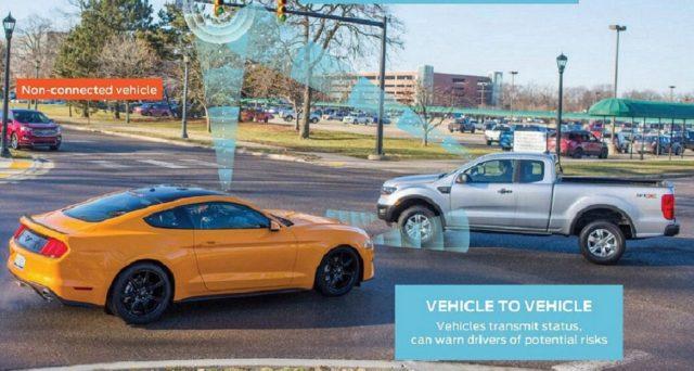 Ford ha svelato una nuova tecnologia che consente ai veicoli di comunicare con altri utenti della strada come pedoni, ciclisti e piloti di e-scooter