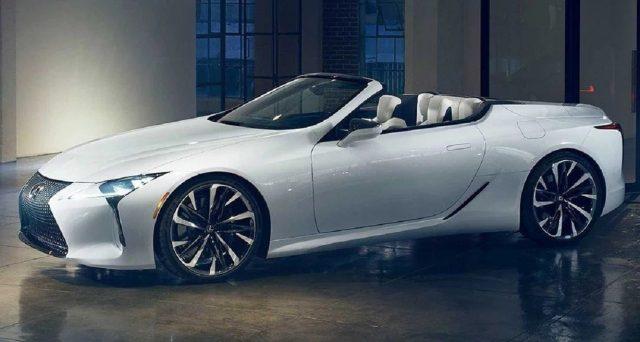 La versione finale della Lexus LC Cabrio sarà presentata il prossimo luglio durante il Goodwood Festival of Speed
