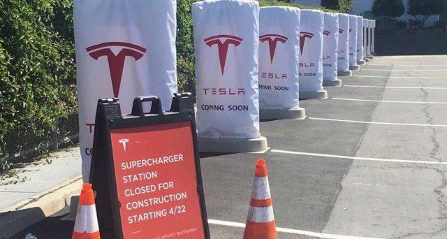Tesla ha ufficialmente aperto al pubblico il suo primo Supercharger V3