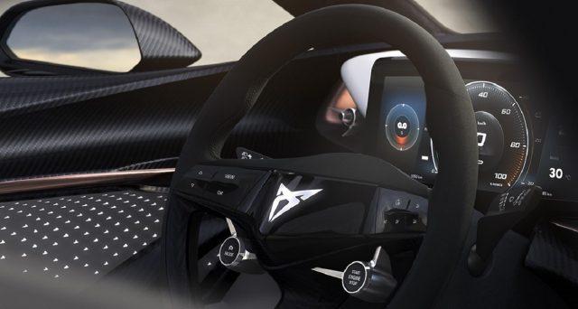 Cupra ha mostrato la prima immagine dell'interno della sua nuova auto elettriche che svelerà a Francoforte