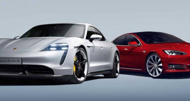 Porsche Taycan e Tesla Model S