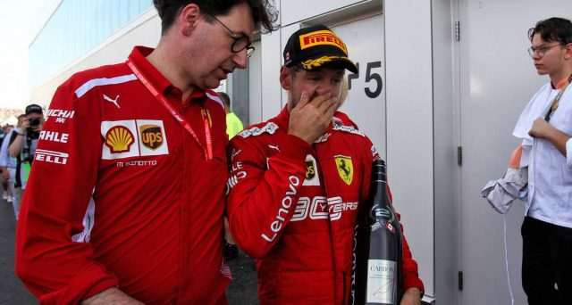 Sebastian Vettel e Mattia Binotto