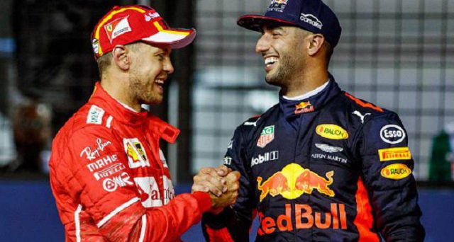 Vettel e Ricciardo