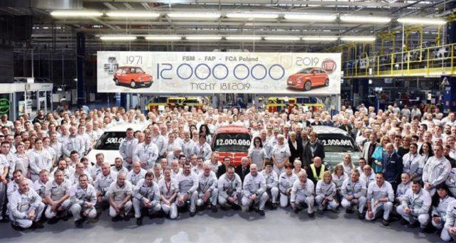 Lunedì, il 12 milionesimo veicolo è uscito dalle linee di produzione dello stabilimento Fiat Chrysler Polonia