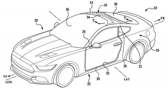 Ford ha depositato un brevetto di un parabrezza che si allunga fino al tetto in stile Tesla Model X