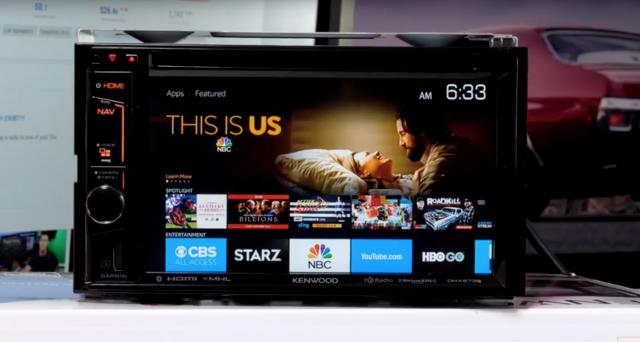 Amazon Fire TV in auto