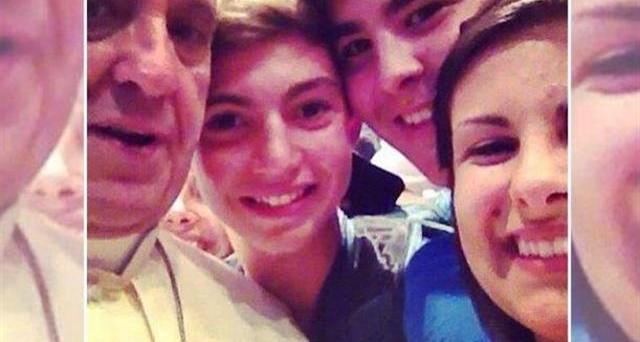 selfie col Papa