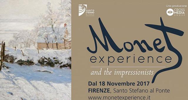 Arriva la mostra Monet Experience all'interno della chiesa sconsacrata di Santo Stefano al Ponte a Firenze.