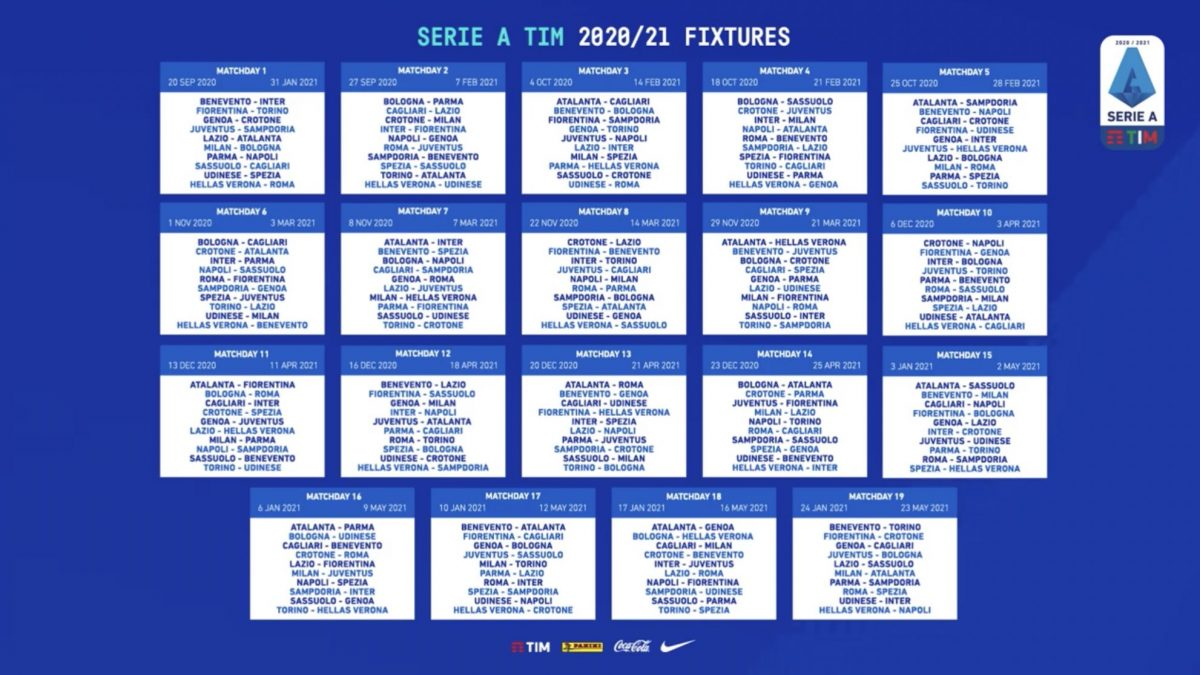 Calendario Partite As Roma 2021 Serie A 2020/21, il calendario completo con tutte le partite