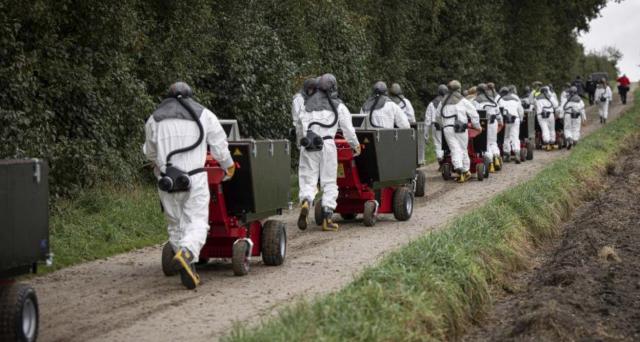L'immagine della lunga fila di camere a gas dirette verso gli allevamenti diventa viruale sui social tanto da fare il giro del mondo in pochissime ore