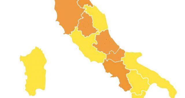 I colori di tutte le regioni d'Italia dopo il nuovo decreto.