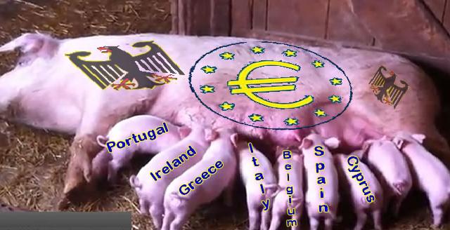 """La moneta unica è il mezzo che giustifica il fine dei tedeschi: vessare gli italiani per rientrare dai debiti. Ci raccontano un sacco di balle per farci sottostare alle """"regole"""" di Bruxelles"""