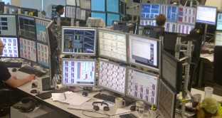 trading floor at work