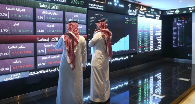 Inside The Saudi Stock Exchange As Saudi Stocks Gain