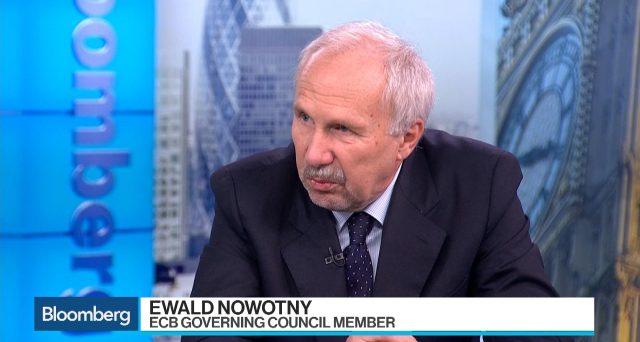 Il consigliere Bce Ewald Nowotny ha dichiarato che l'attuale