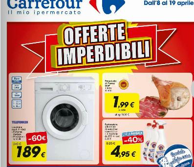 Interessanti offerte nel volantino Carrefour: sconti validi fino al 19 aprile 2016
