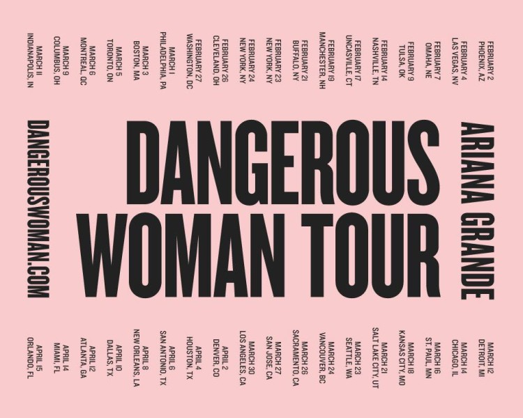 Ariana grande tour dates in Brisbane