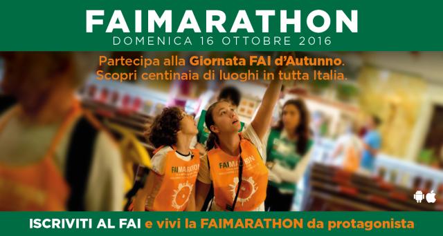 Ecco le info sui biglietti e siti aperti a Napoli, Milano e Roma in occasione delle Giornate Fai autunno 2016.ed in particolar modo per il FaiMarathon.