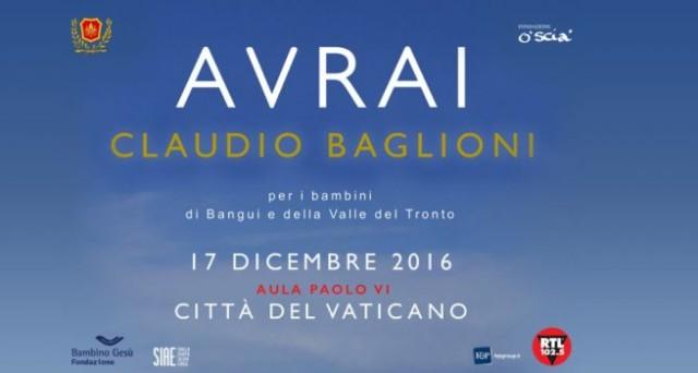 Ecco le info sul prezzo dei biglietti per beneficenza del concerto 2016 di Claudio Baglioni da Papa Francesco al Vaticano.