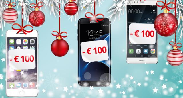 Ecco le superpromozioni di Natale 2016 di TMS per l'acquisto di del Samsung Galaxy S7 Edge, l'iPhone 7 e il Huawei P9.