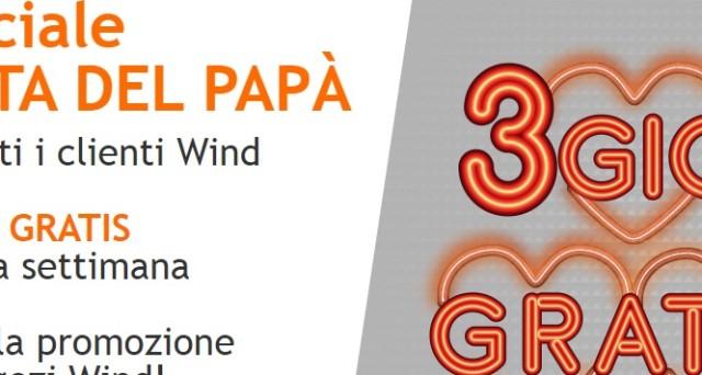Ecco la Super offerta Wind speciale per la festa del papà del 19 marzo 2017: si avranno 3GB di internet gratis, ecco come attivare la promozione.