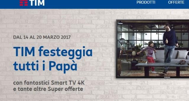 Ecco le offerte e promozioni con 3 Gb di internet in 4G a 2,99 euro, Tim Special Pack e 2x1 cinema anche per chi passa a Tim in occasione della Festa del Papà 2017.