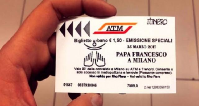 Ecco le info e il costo del biglietto speciale ATM per la visita di Papa Francesco a Milano il 25 marzo 2017.