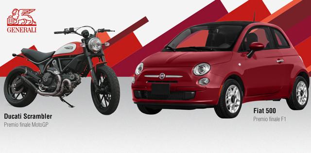 Ecco tutte le info su come partecipare al concorso Sky e Generali FantaGP 2017 grazie al quale si potrà vincere una Fiat 500,uno smartbox, una Ducati Scrambler Icon e due ingressi al Moto Gp di Monza.