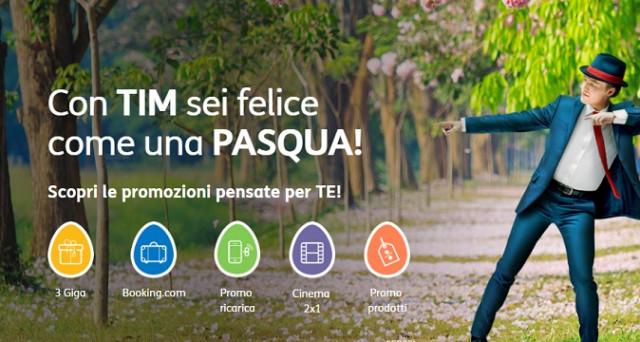 Ecco le Super offerte Tim di Pasqua 2017: 3GB di internet in 4G a soli 2,99 euro, 1 GB gratis di internet sempre in 4G e cinema 2x1. Scopri come fare per accedervi.