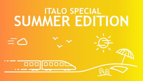 Italo Summer Edition: la promo di Italo per i viaggi in treno con sconti fino al 60% durante l'estate.