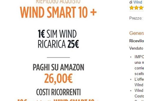 Ecco la super offerta per chi Passa a Wind giugno 2017 con 1000 minuti e 8 Gb di internet a 10 euro. Tale promozione si potrà acquistare anche  su Amazon, i dettagli.