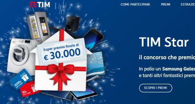 Ecco le info sul Concorso Tim 2017 grazie al quale si potranno vincere un Samsung Galaxy S8, un Samsung Galaxy A5, 90 gift card di 50 euro ciascuna e 30 buoni sconto da 1000 euro.