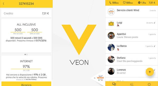 Installando la app Veon e collegandola al proprio profilo Wind si potrnno vincere 1.000 premi da 100 GB ciascuno