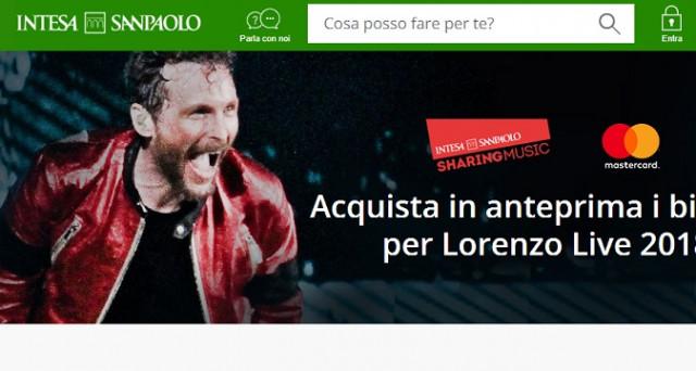 Ecco le info sui biglietti del concerto Lorenzo Jovanotti Live del 2018 con Banca Intesa Sanpaolo e le info sulle carte di debito flash usa e getta e Next Card.