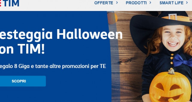 Offerte tim halloween 2017 8 gb in 4g in regalo e book for Offerte in regalo