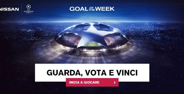 Nissan ha attivato il concorso Goal of the Week, permette di vincere la finale di Champions League 2017-2018.