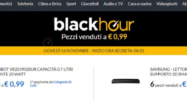 Fino al 23 novembre 2017 con E-Price Black Hour per 1 ora 60 pezzi a 0,99 centesimi: si riusciranno a fare acquisti o continueranno i problemi?