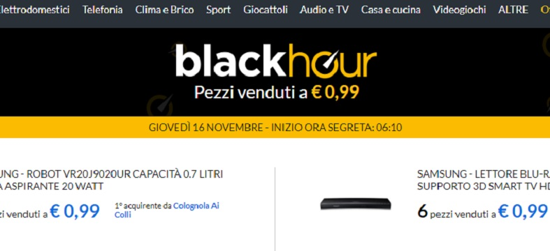 E price black hour per 1 ora 60 pezzi a 0 99 centesimi for Eprice black hour truffa