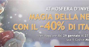 La Magia della neve di Italo Treno: offerte con sconti fino al 40% e non solo.