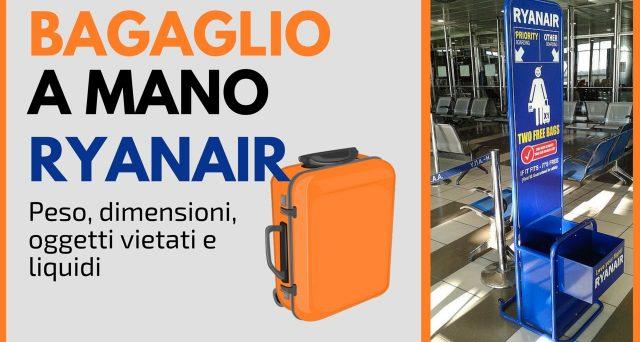 Da gennaio 2018 cambiano le regole per i bagagli a mano Ryanair. Ecco le info in merito e quelle sulle principali offerte di voli low cost in partenza da Milano e Roma.