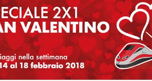 Ecco le offerte di Trenitalia per San Valentino e Carnevale 2018 con la speciale formula 2x1.